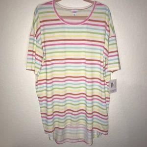 Rainbow Striped Irma Top LuLaRoe XL BNWT